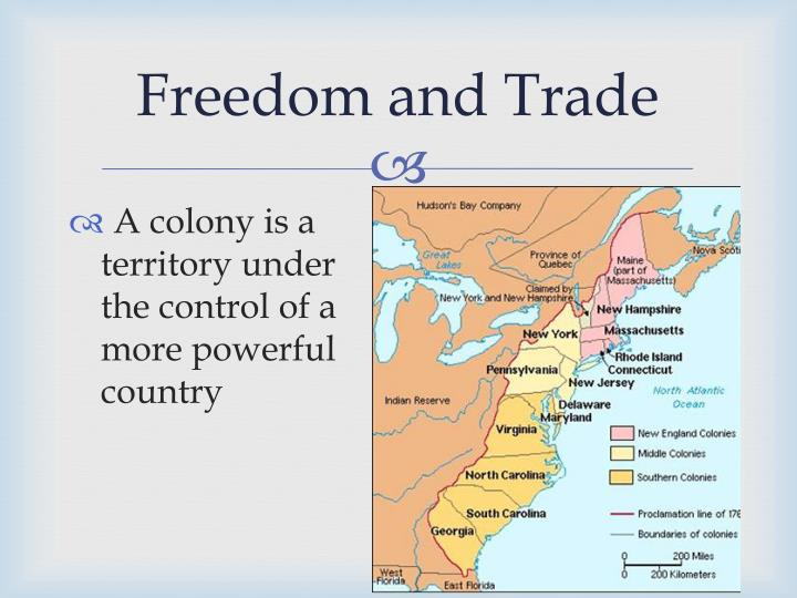 Freedom and trade