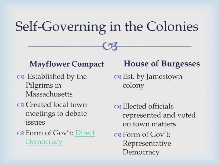 Self-Governing in the Colonies