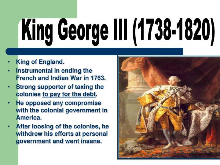 King George III (1738-1820)