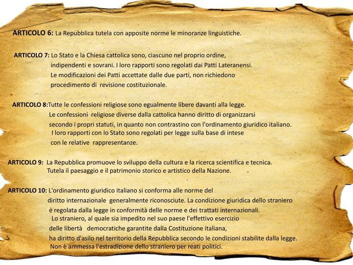 ARTICOLO 6: