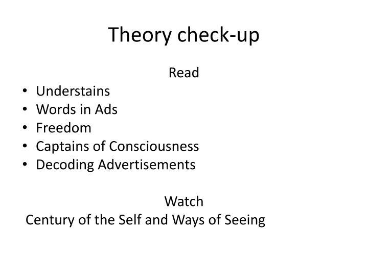 Theory check up
