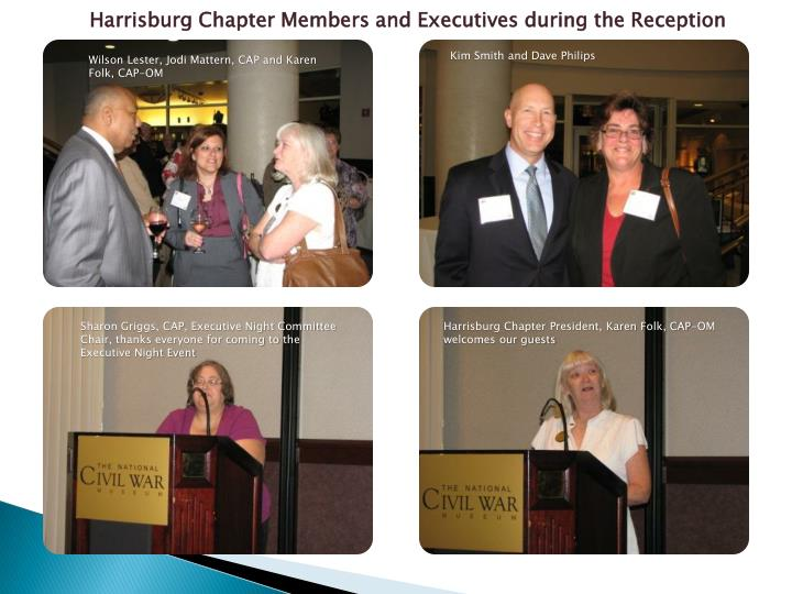 Harrisburg Chapter Members and Executives during the Reception