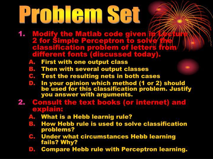 Problem Set