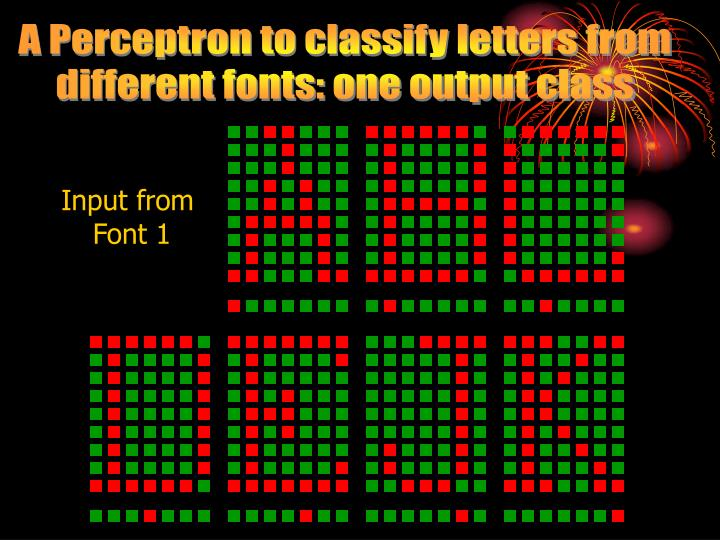 A Perceptron to classify letters from