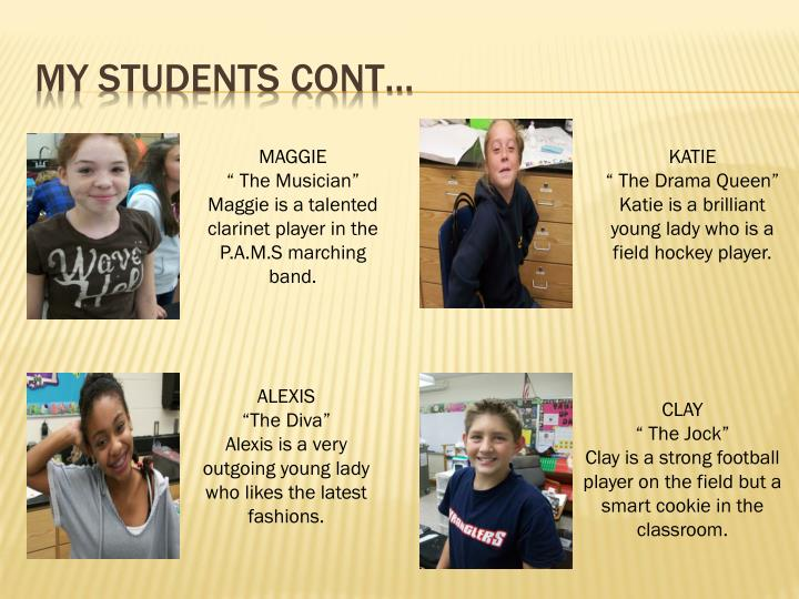 My students cont…