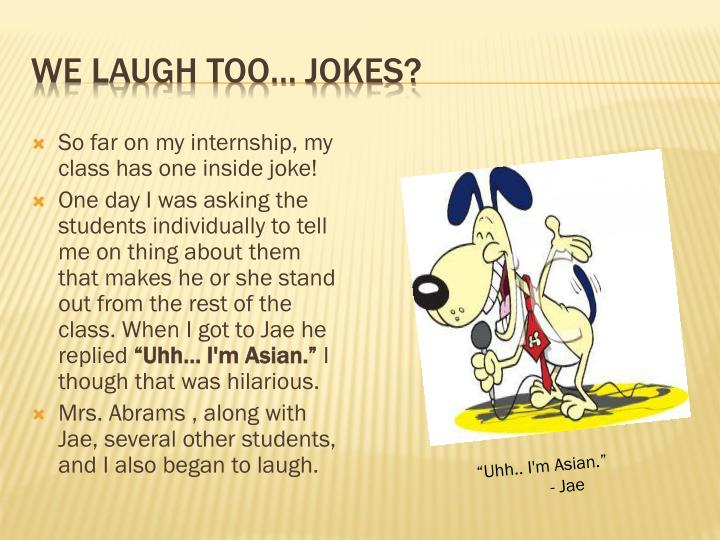 We laugh too… jokes?