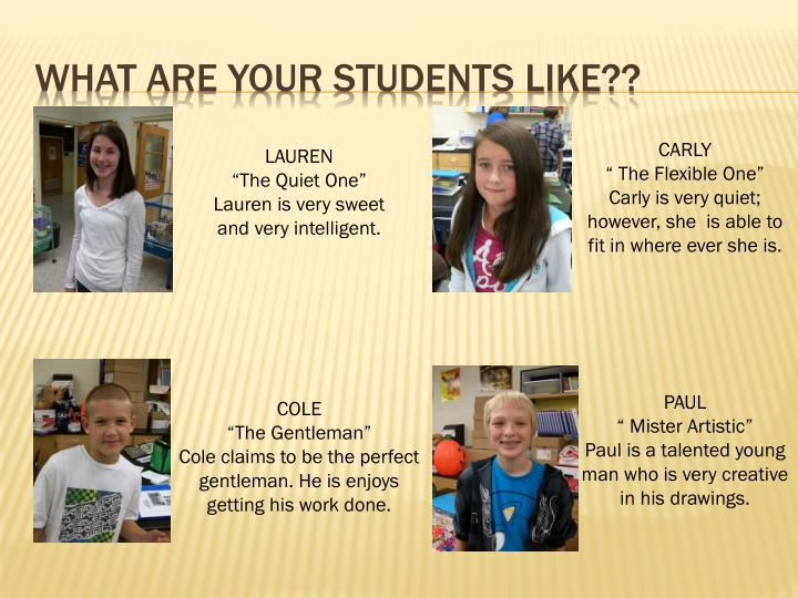 what are your students like??