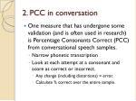 2 pcc in conversation