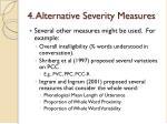 4 alternative severity measures