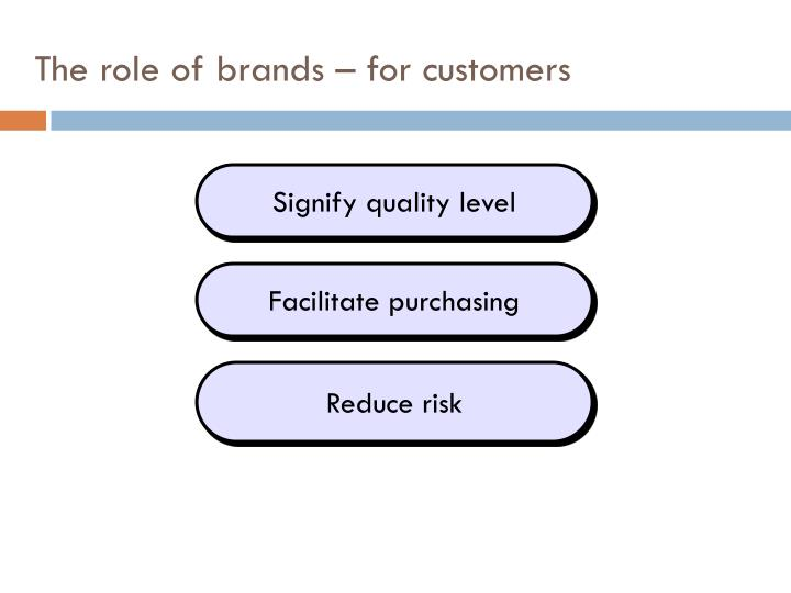 The role of brands – for customers