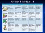 weekly schedule 1