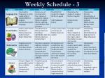 weekly schedule 3