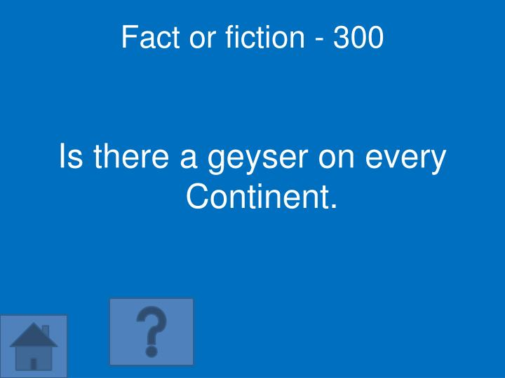Fact or