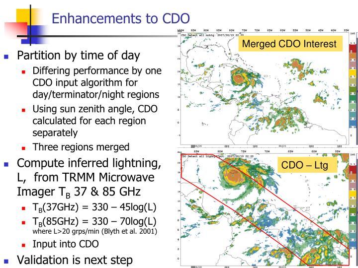 Enhancements to CDO
