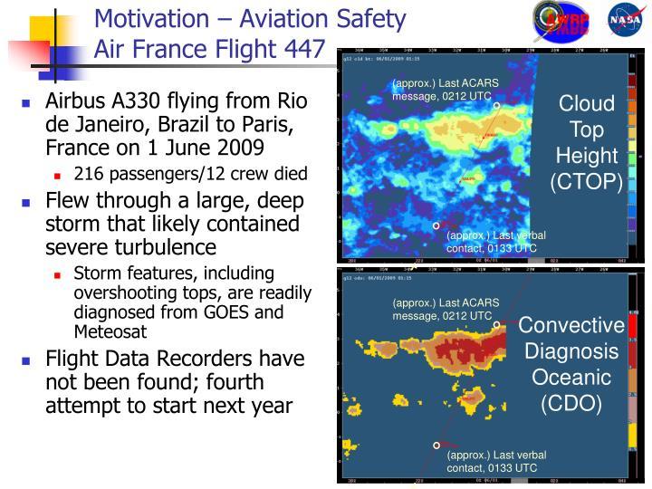 Motivation aviation safety air france flight 447