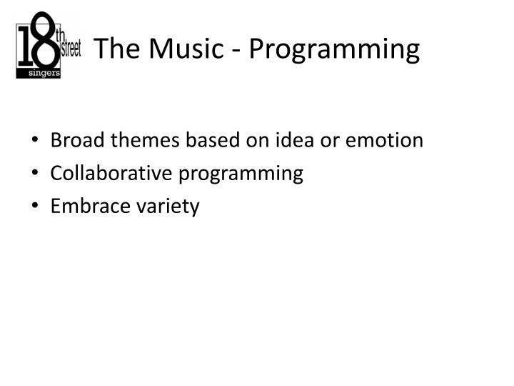 The Music - Programming