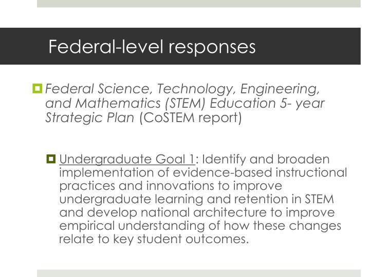 Federal-level responses