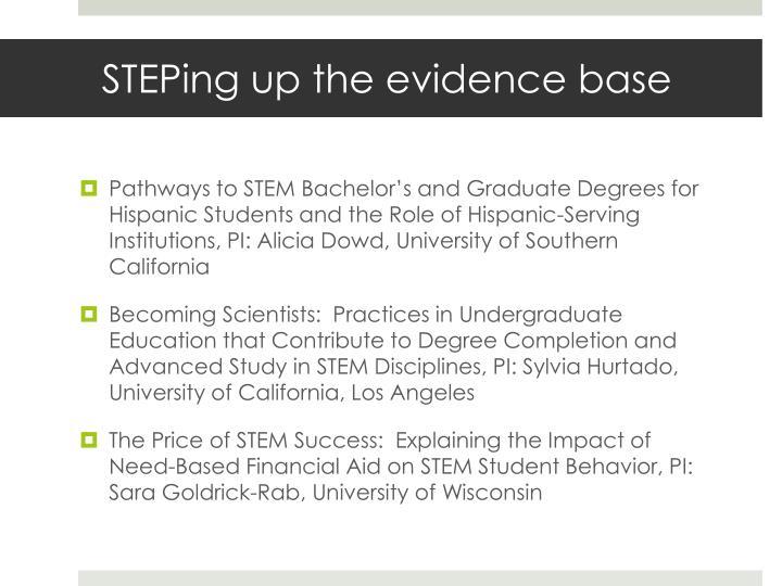 STEPing up the evidence base