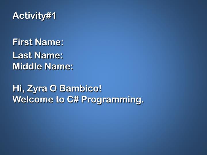 Activity#1