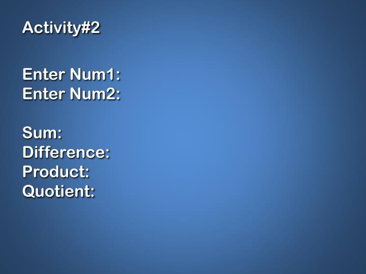 Activity#2