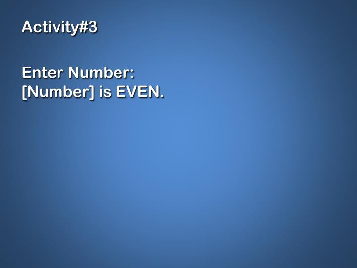 Activity#3