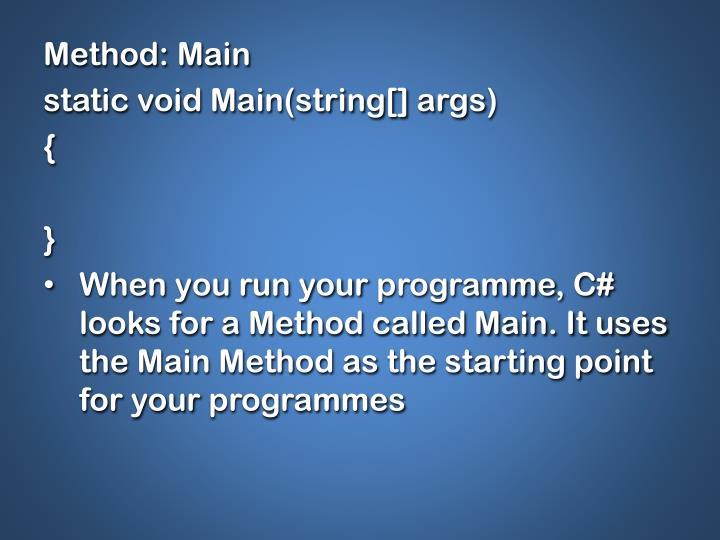 Method: Main