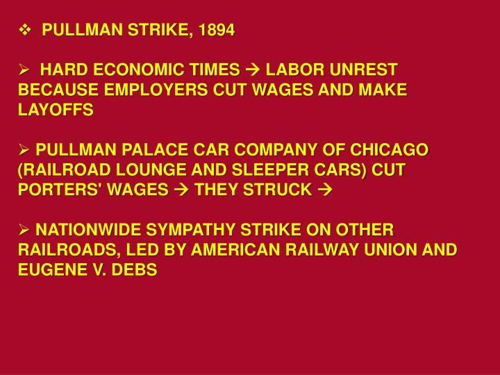 PULLMAN STRIKE, 1894