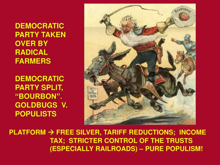 DEMOCRATIC PARTY TAKEN OVER BY RADICAL FARMERS