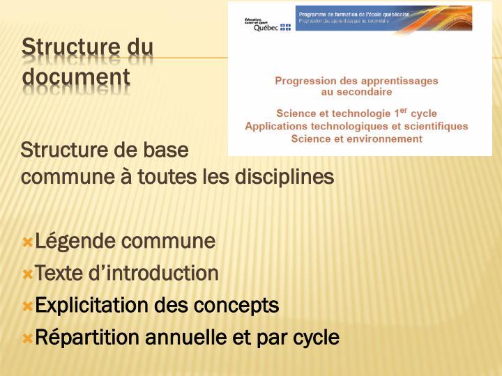 Structure de base