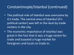 constantinople istanbul continued