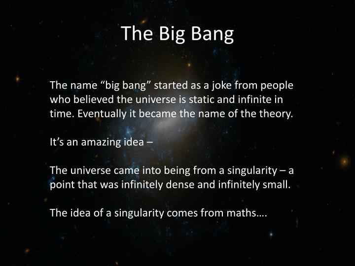 The big bang1