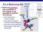 it s a balancing act