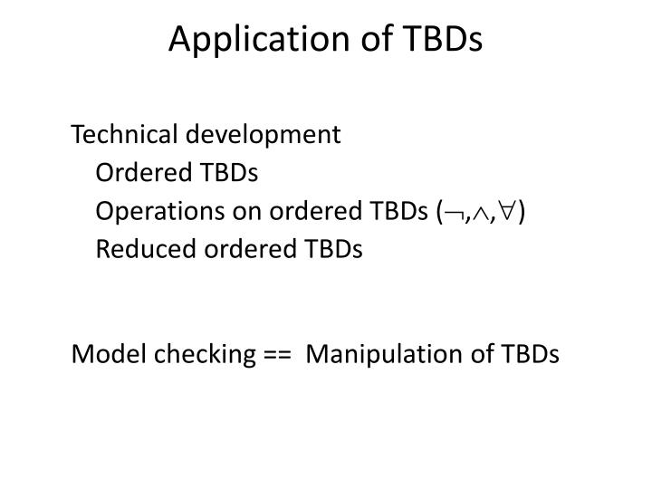 application of tbds n.