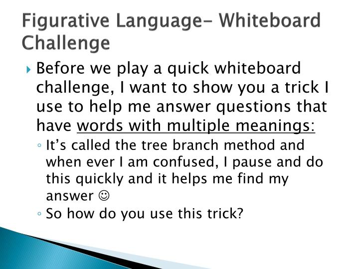 Figurative Language- Whiteboard Challenge