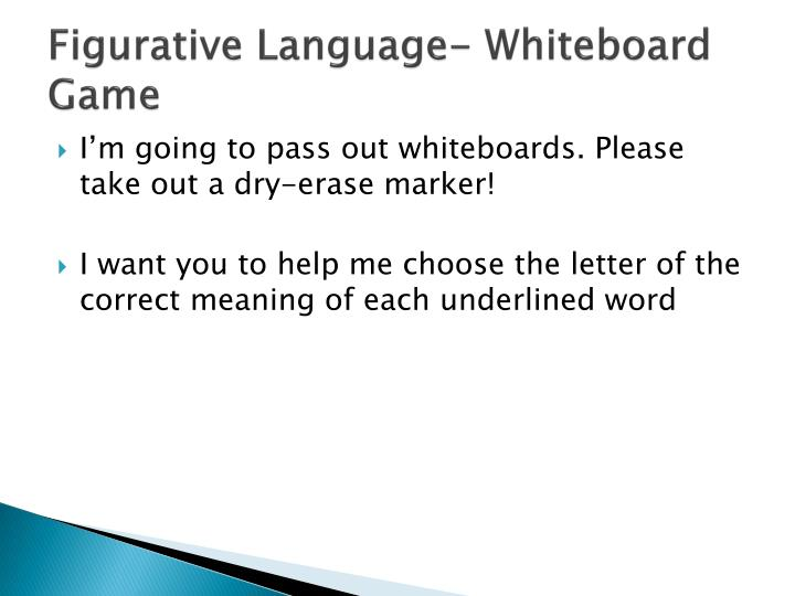 Figurative Language- Whiteboard Game