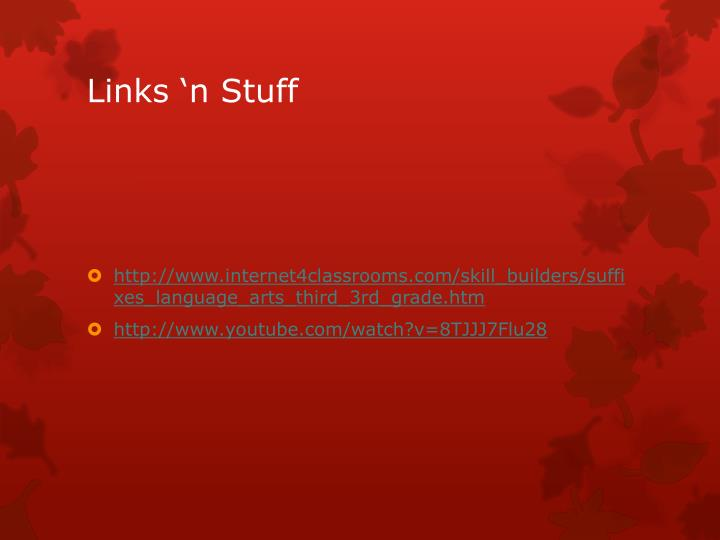 Links 'n Stuff