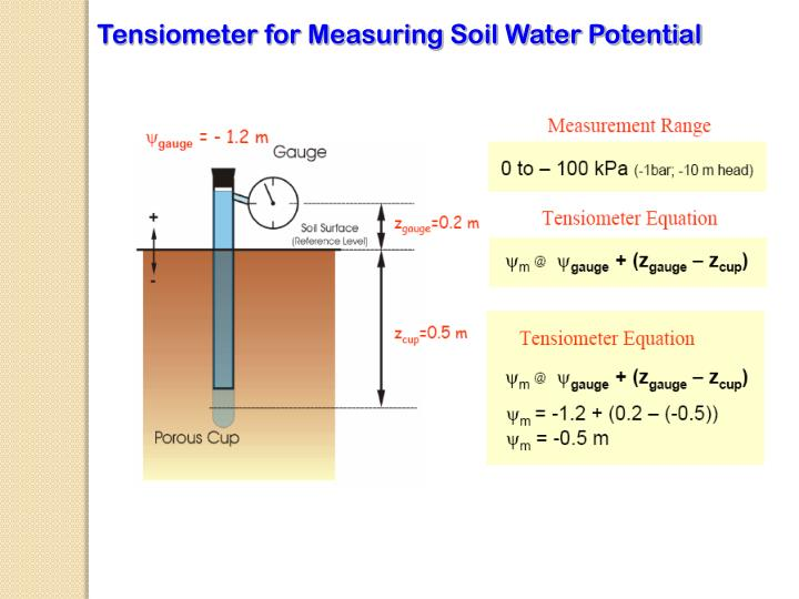 Tensiometer for Measuring Soil Water Potential