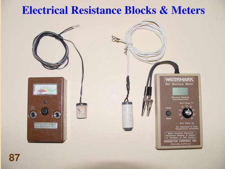 Electrical Resistance Blocks & Meters
