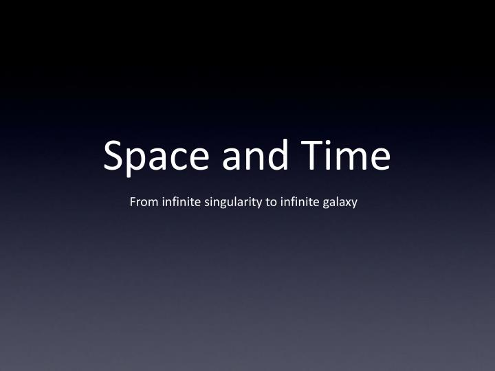 space and time n.