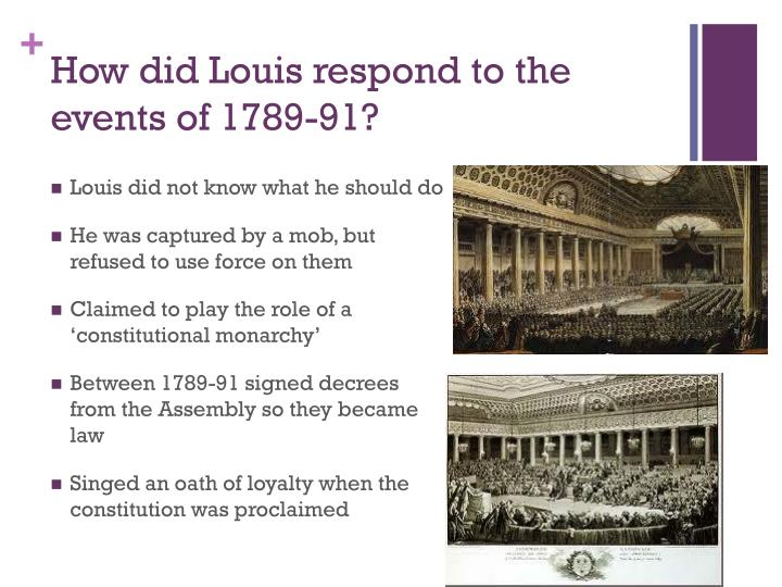 How did louis respond to the events of 1789 91