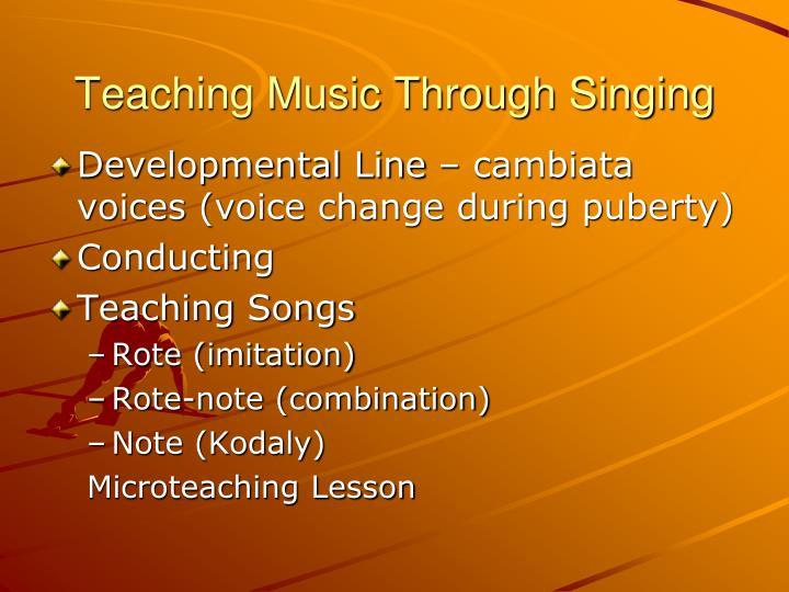 Teaching music through singing1