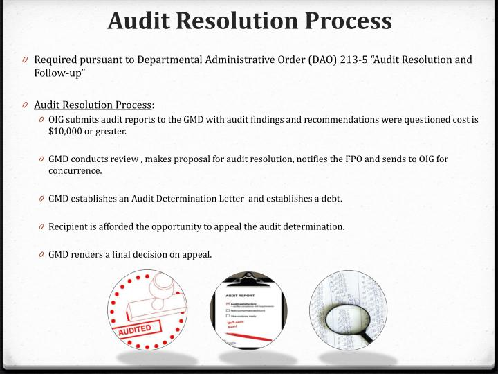 Audit Resolution Process