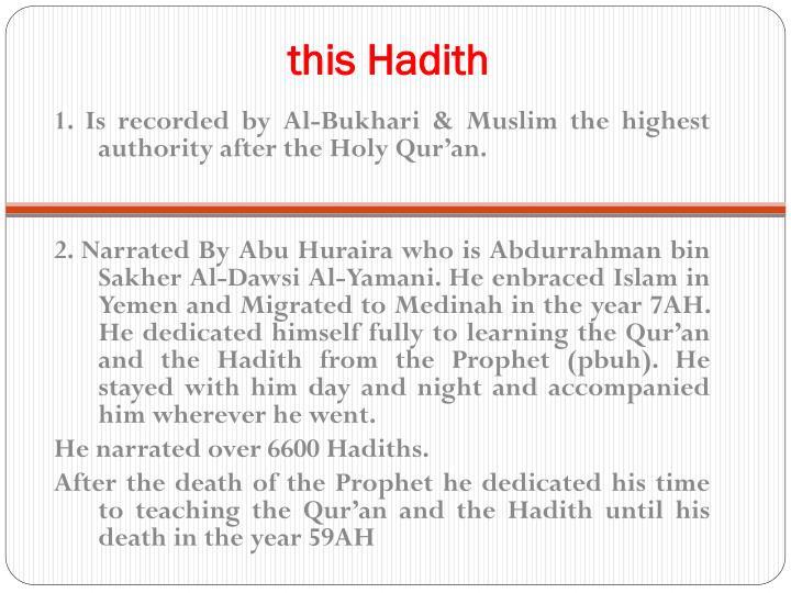 this Hadith