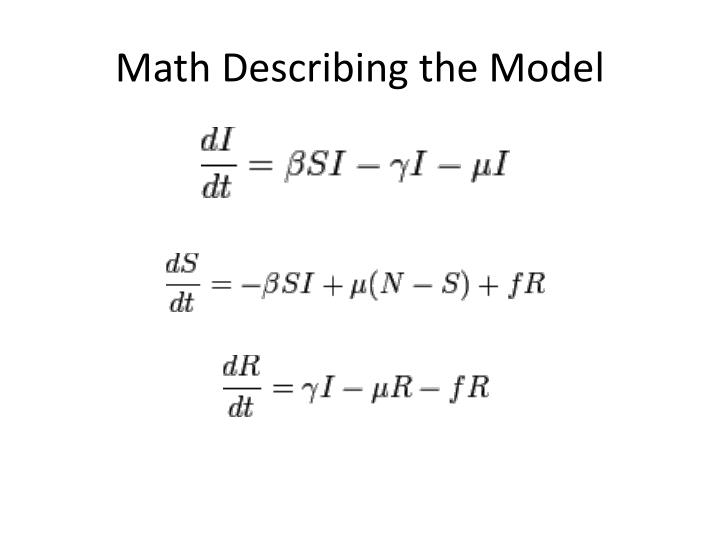 Math Describing the Model