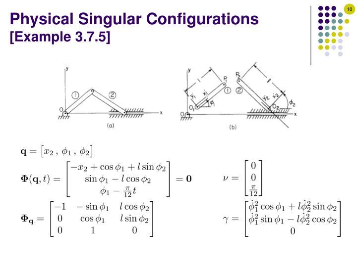 Physical Singular Configurations
