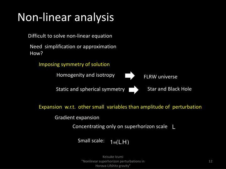 Non-linear analysis