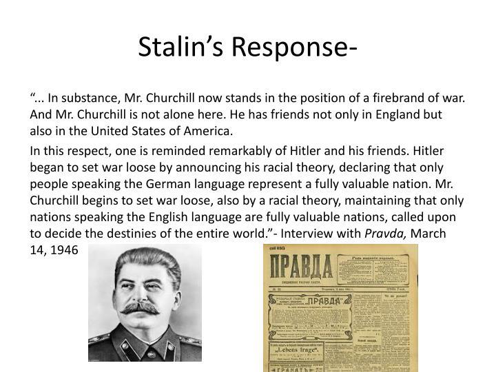 Stalin's Response-
