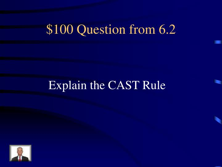 $100 Question from 6.2