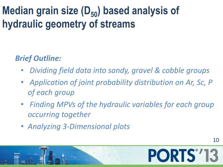 Median grain size (D