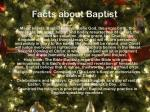 facts about baptist
